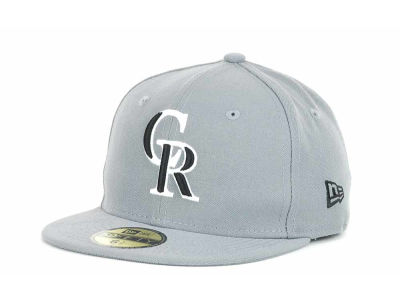 Colorado Rockies New Era MLB Youth Gray Black and White 59FIFTY