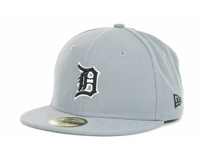 Detroit Tigers New Era MLB Youth Gray Black and White 59FIFTY