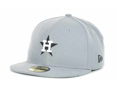 Houston Astros New Era MLB Youth Gray Black and White 59FIFTY
