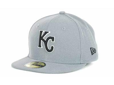 Kansas City Royals New Era MLB Youth Gray Black and White 59FIFTY