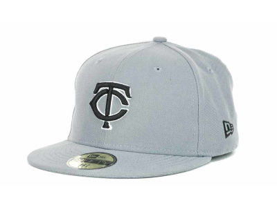 Minnesota Twins New Era MLB Youth Gray Black and White 59FIFTY