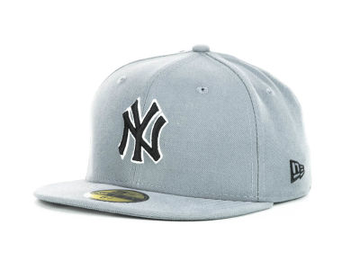 New York Yankees New Era MLB Youth Gray Black and White 59FIFTY