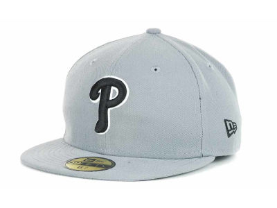 Philadelphia Phillies New Era MLB Youth Gray Black and White 59FIFTY