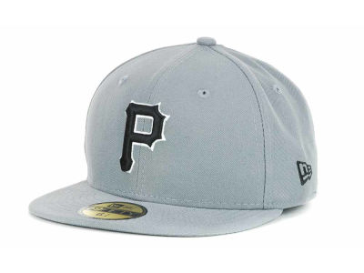 Pittsburgh Pirates New Era MLB Youth Gray Black and White 59FIFTY