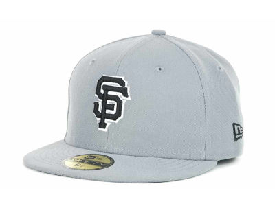 San Francisco Giants New Era MLB Youth Gray Black and White 59FIFTY