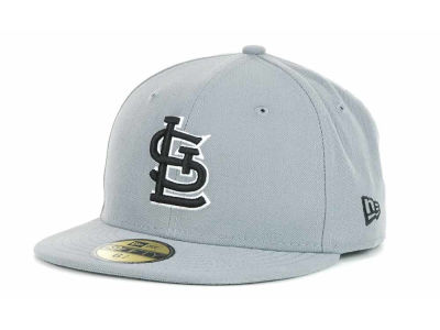 St. Louis Cardinals New Era MLB Youth Gray Black and White 59FIFTY