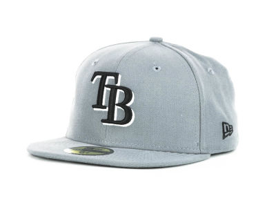 Tampa Bay Rays New Era MLB Youth Gray Black and White 59FIFTY