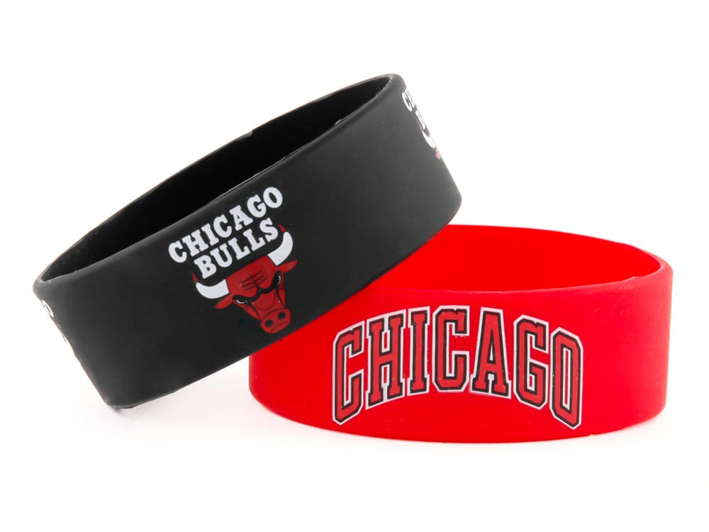 Chicago Bulls 2 Pack Wide Bracelet