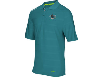 San Jose Sharks Reebok NHL Men's Center Ice Polo