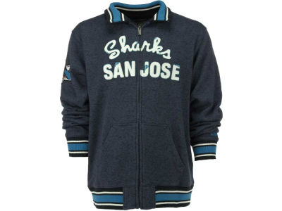 San Jose Sharks Reebok NHL CCM Fleece Track Jacket