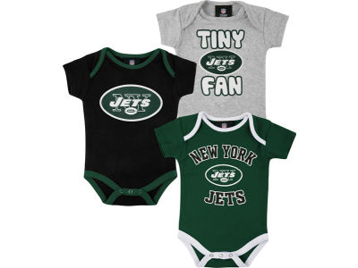 New York Jets NFL Infant 3pc Foldover Neck Creeper Set