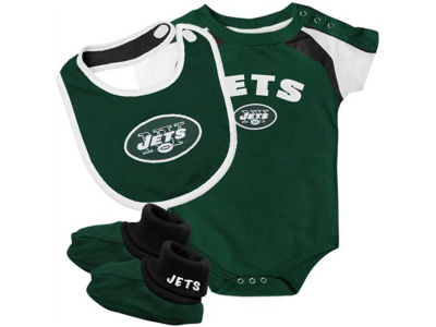 New York Jets NFL Newborn Creeper, Bib, Bootie Set