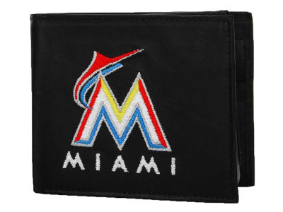 Miami Marlins Black Bifold Wallet