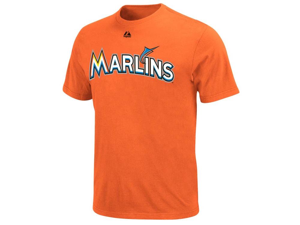 9aca9ca3 Miami Marlins Majestic MLB Men's Official Wordmark T-Shirt | lids.com