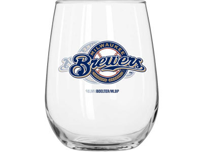 Milwaukee Brewers Curved Beverage Glass