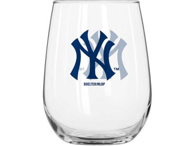 New York Yankees Curved Beverage Glass