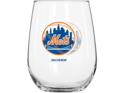 New York Mets Curved Beverage Glass