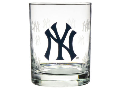 New York Yankees Satin Etch Rocks Glass