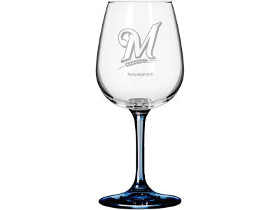 Milwaukee Brewers Satin Etch Wine Glass