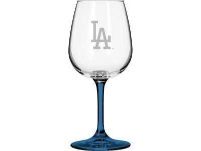 Los Angeles Dodgers Satin Etch Wine Glass