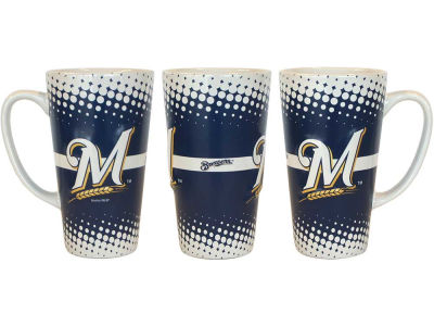 Milwaukee Brewers 16oz Sculpt Latte Mug