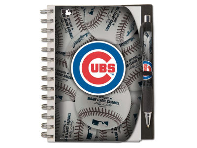 Chicago Cubs 5x7 Spiral Notebook And Pen Set
