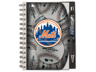 New York Mets 5x7 Spiral Notebook And Pen Set
