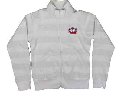 Montreal Canadiens NHL CN Womens Ghost Stripe Full Zip Jacket