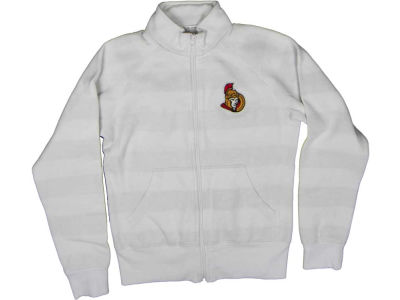 Ottawa Senators NHL CN Womens Ghost Stripe Full Zip Jacket