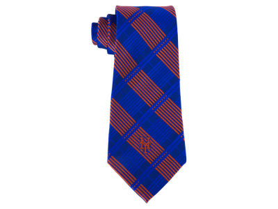 New York Mets Necktie Woven Poly Plaid