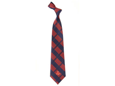 Boston Red Sox Necktie Woven Poly Plaid