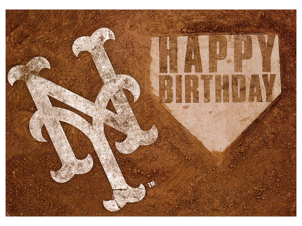 New York Mets MLB Birthday Card