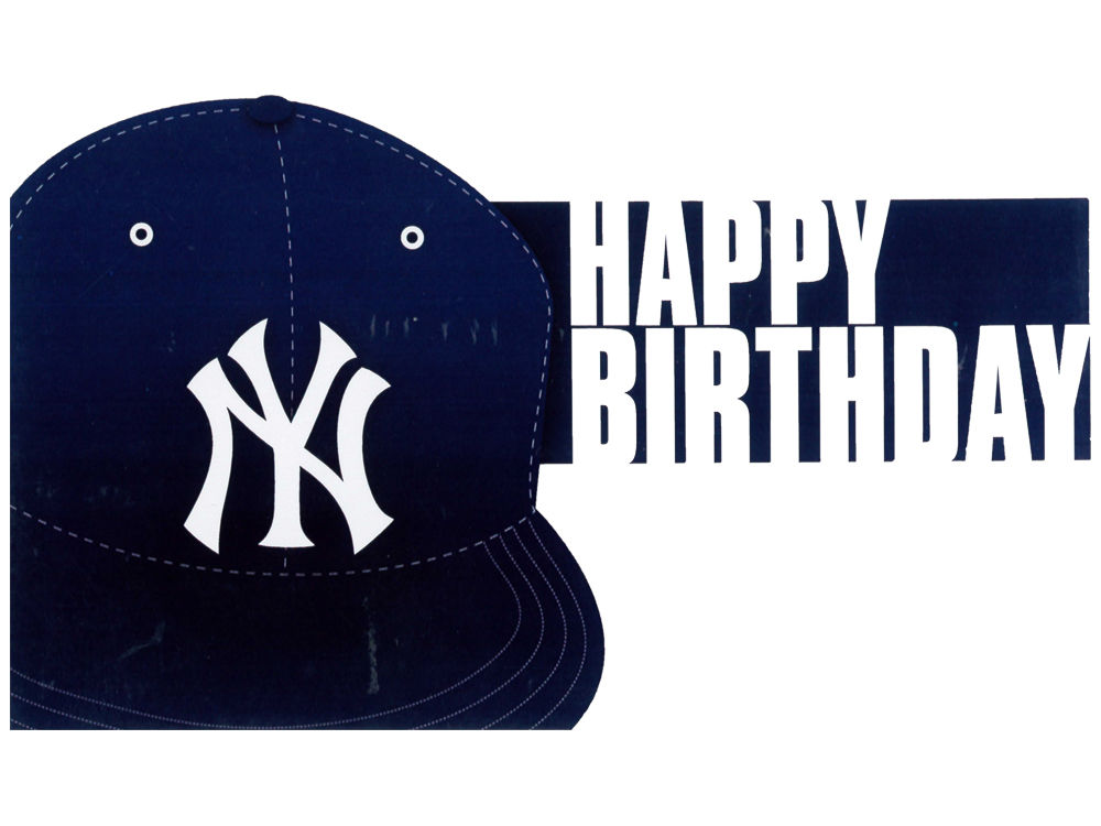 New York Yankees Mlb Birthday Card Lids