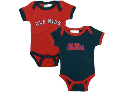 Ole Miss Rebels NCAA Infant 2 Pack Contrast Creeper