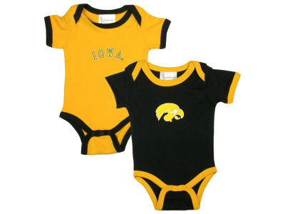 Iowa Hawkeyes NCAA Infant 2 Pack Contrast Creeper