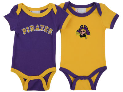 East Carolina Pirates NCAA Newborn 2 Pack Contrast Creeper