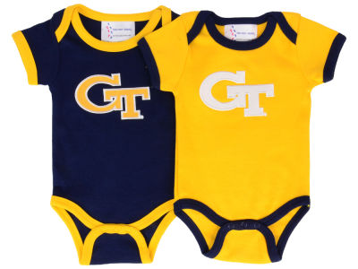 Georgia-Tech NCAA Newborn 2 Pack Contrast Creeper
