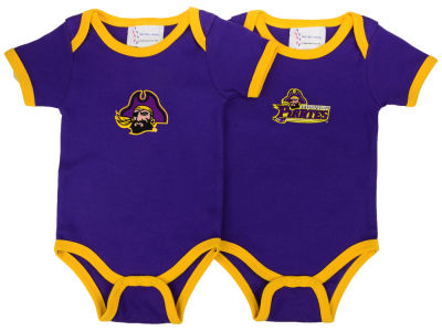 East Carolina Pirates NCAA Infant 2 Pack Contrast Creeper
