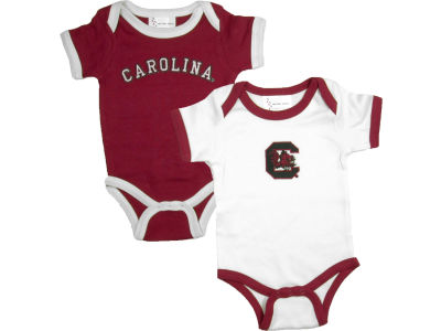 South Carolina Gamecocks NCAA Infant 2 Pack Contrast Creeper