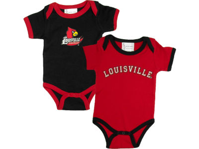 Louisville Cardinals NCAA Infant 2 Pack Contrast Creeper
