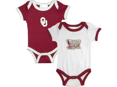 Oklahoma Sooners NCAA Infant 2 Pack Contrast Creeper