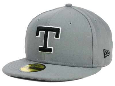 Texas Rangers New Era MLB Gray BW 59FIFTY Cap