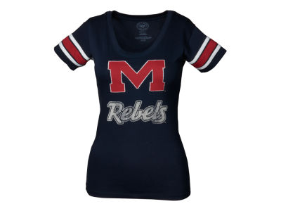 Ole Miss Rebels '47 NCAA Womens Off Campus Scoop T-Shirt
