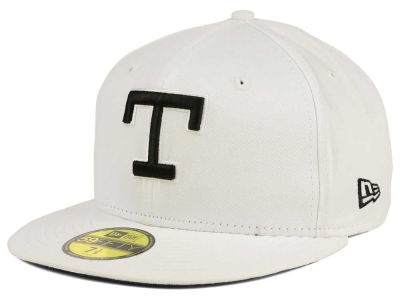 Texas Rangers New Era MLB White And Black 59FIFTY Cap