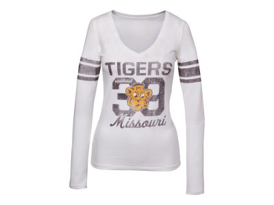 Missouri Tigers '47 NCAA Wmns Homerun Long Sleeve Vneck T-shirt
