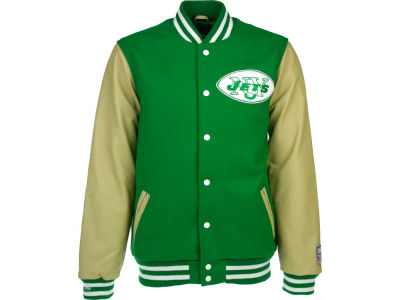 New York Jets Reebok NFL Wool/Leather Varsity Jacket