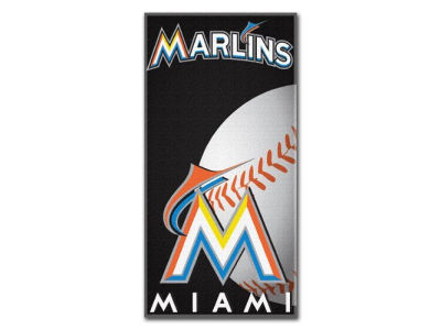 Miami Marlins Fiber Reactive Beach Towel