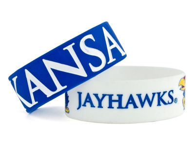 Kansas Jayhawks 2-pack Wide Bracelet