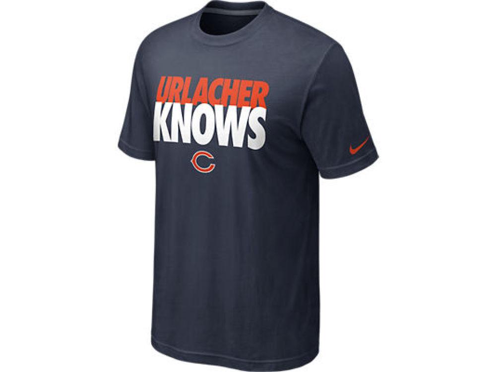 Nike NFL Chicago Bears Urlacher Knows Men's Tee Shirt