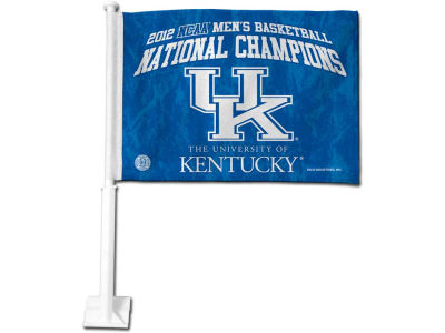 Kentucky Wildcats 2012 NCAA National Champ Car Flag